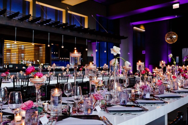 Jewel toned modern wedding