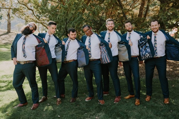 groomsmen jackets with unique liners