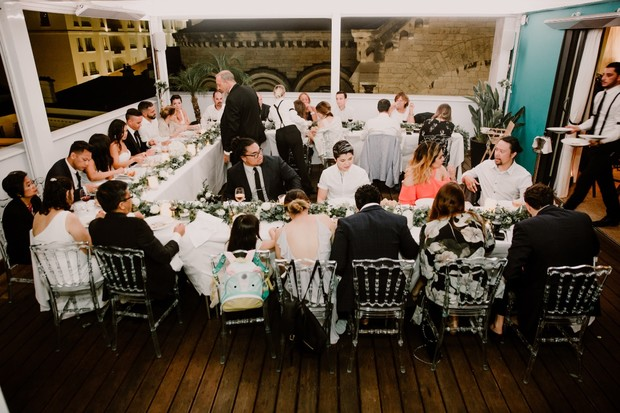 intimate wedding dinner in France