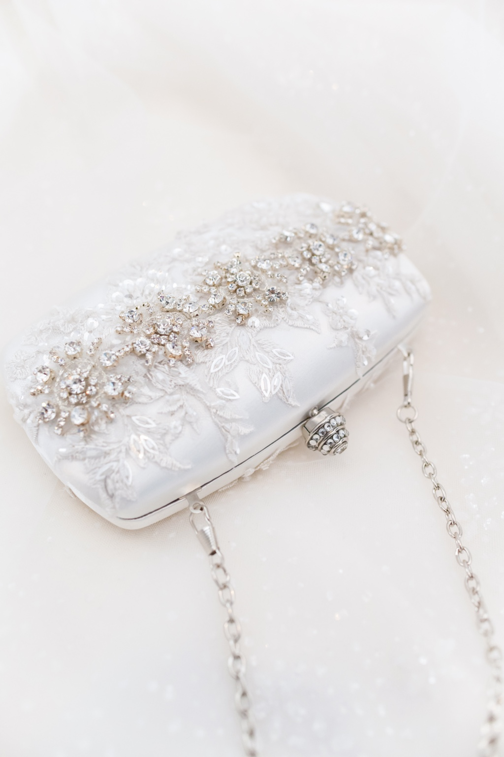 Rhinestone clutches that make a statement at your wedding