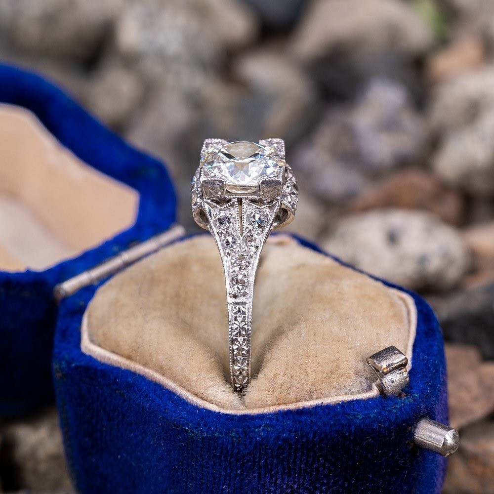 Circa 1920s Antique Engagement Ring