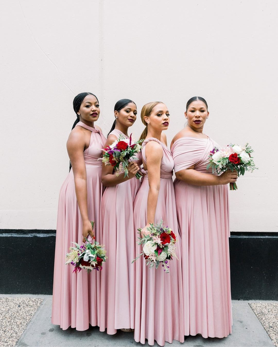 These bridesmaids are stopping traffic