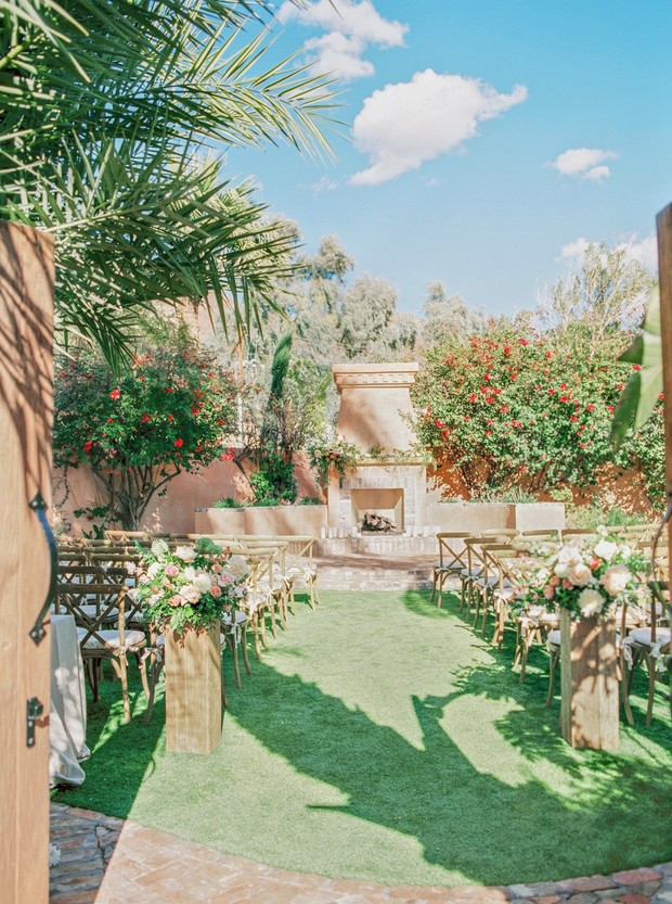 outdoor garden wedding in Arizona