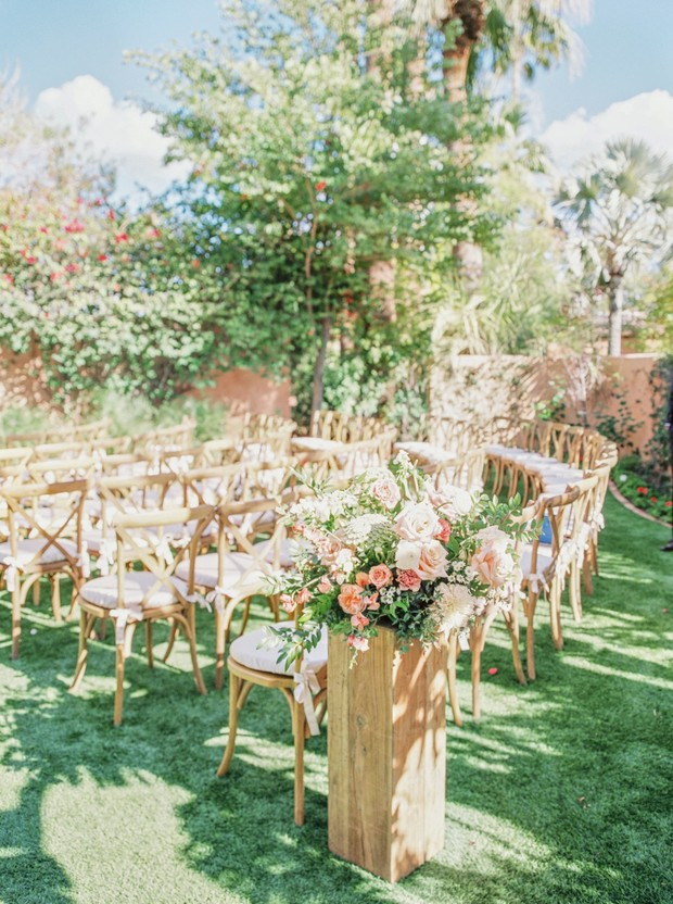 outdoor wedding ceremony in Arizona