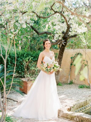 Blush And Green Arizona Spring Wedding