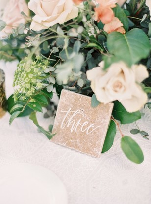 wedding tile table number