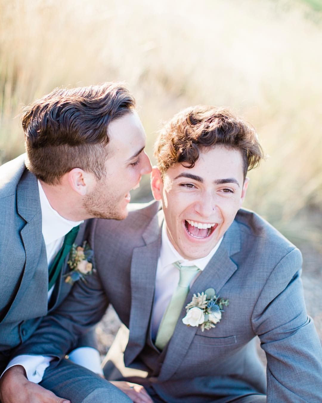Happy happy Friday y'all!!! How darn cute are these grooms??? Nothing but JOY in this photo!! Can't wait to be able to share more