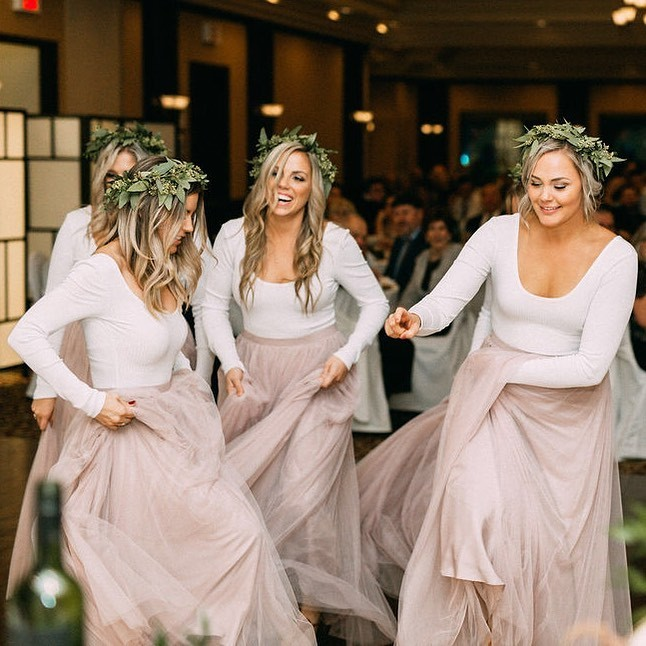When you promised your bestie that you wouldn't be embarrassing on the dance floor at her wedding, but you both knew that you were