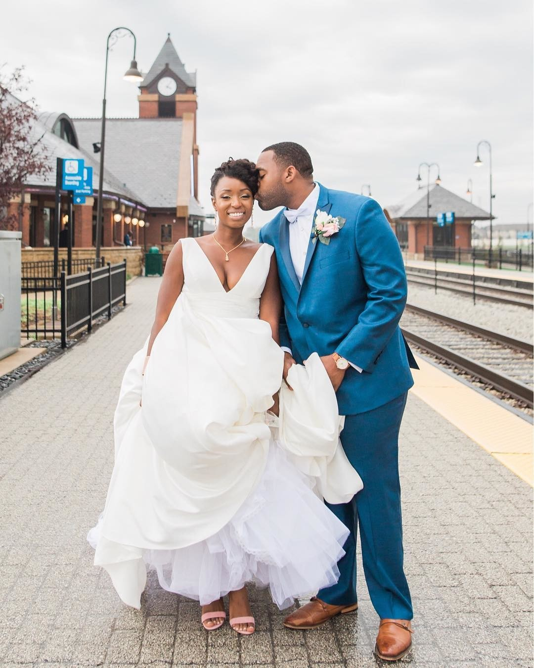 Chicago Train Station wedding