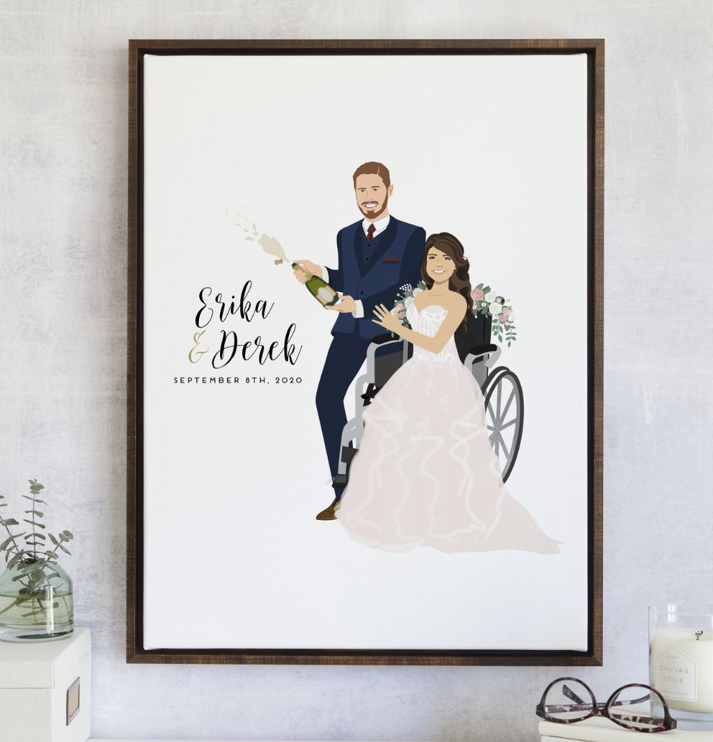 The couple that sprays (champagne) together, stays together. A fun twist on our #1 Best-Selling wedding guest book alternative for