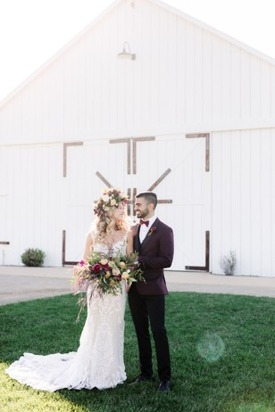burgundy boho wedding inspiration