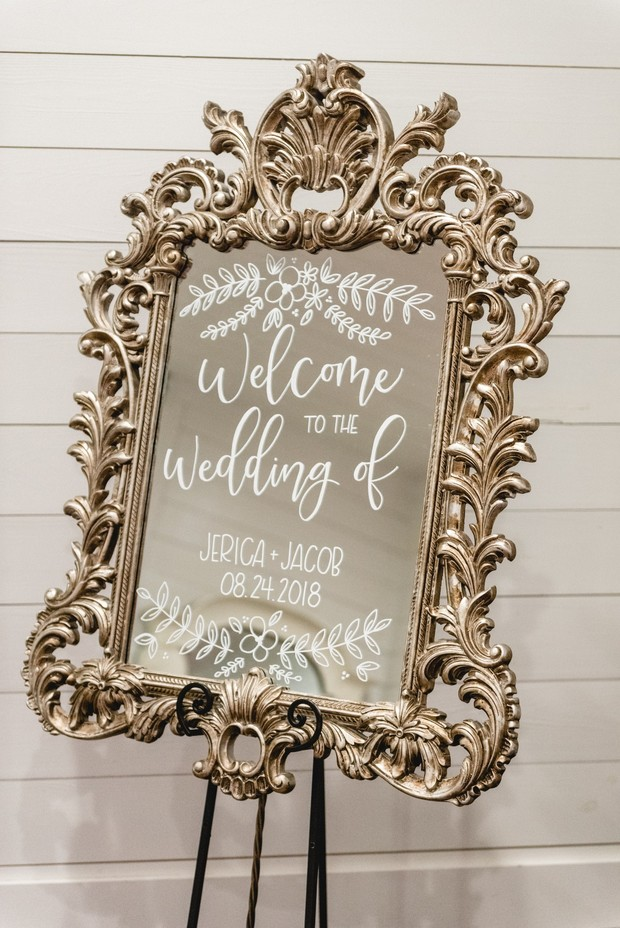 mirror wedding sign design