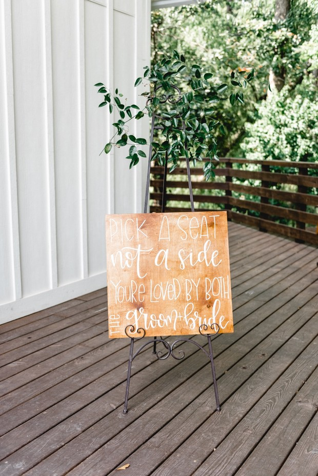 wood wedding sign