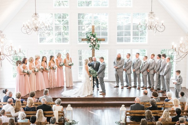 Natural Chic Blush and Grey Wedding at The Carriage House