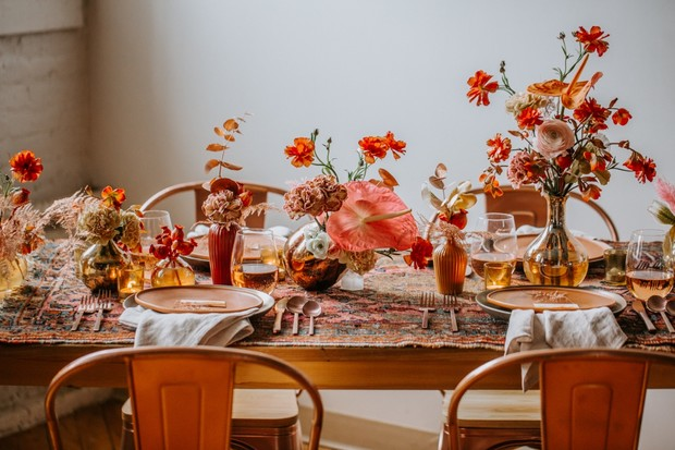 fall colored wedding inspiration