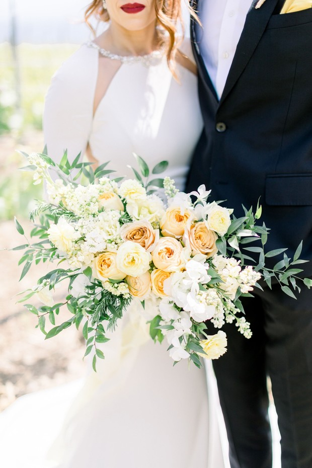 summer yellow wedding bouquet