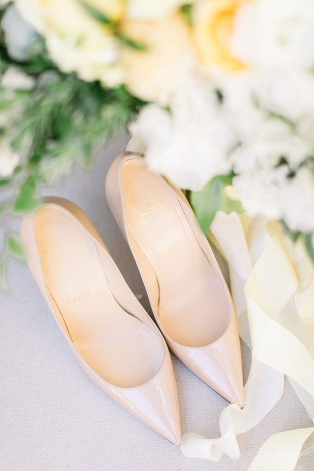 nude wedding heels