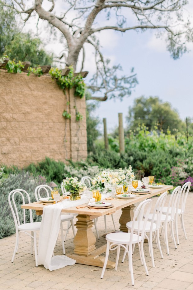 summer yellow wedding design