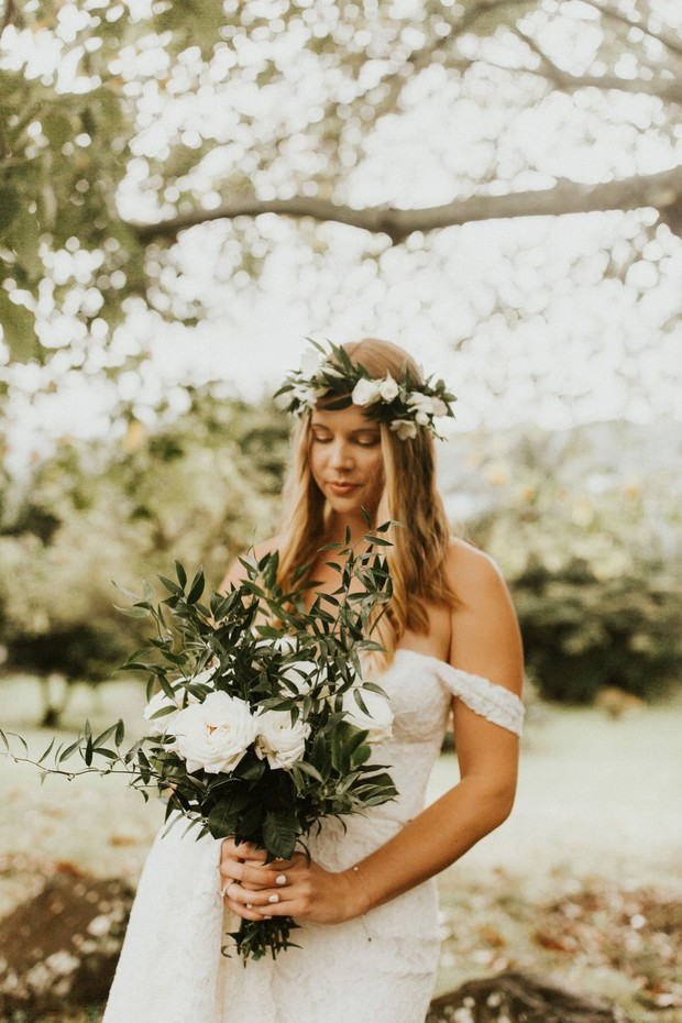 Organic Garden Rose & Greenery Bouquets With Fifty Flowers