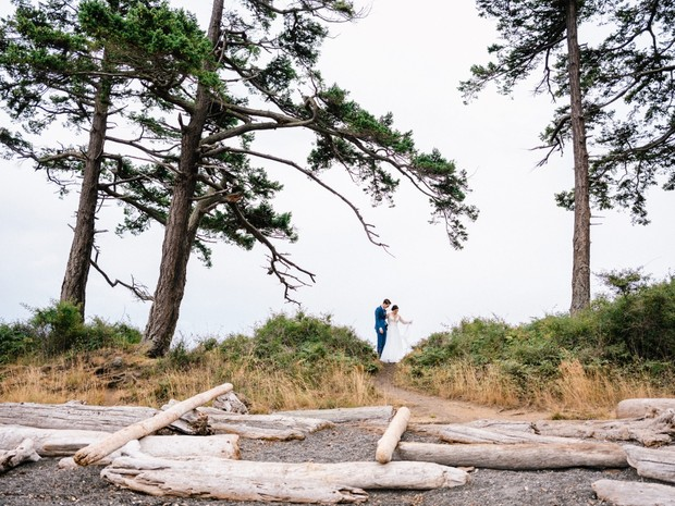 wedding photos on San Juan Island