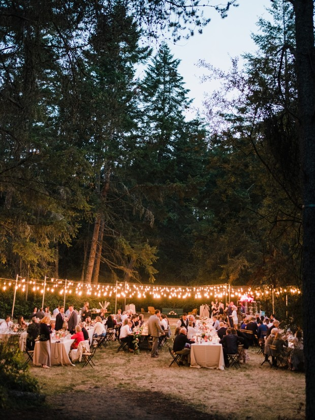 wedding lighting for outdoor wedding reception