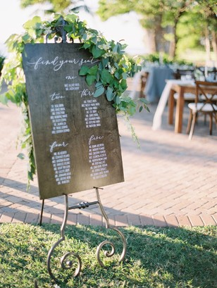 wedding seating assignment