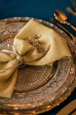 Opulent Blue and Gold Wedding Ideas
