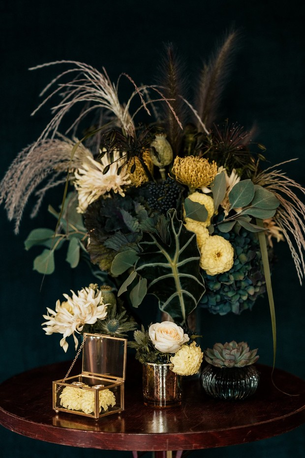 opulent wedding floral decor
