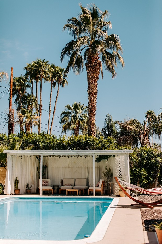 poolside wedding in Palm Springs