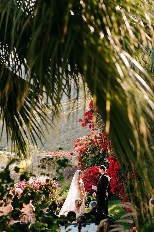 outdoor ceremony in Palm Springs