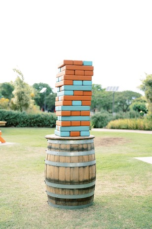 giant jenga wedding games