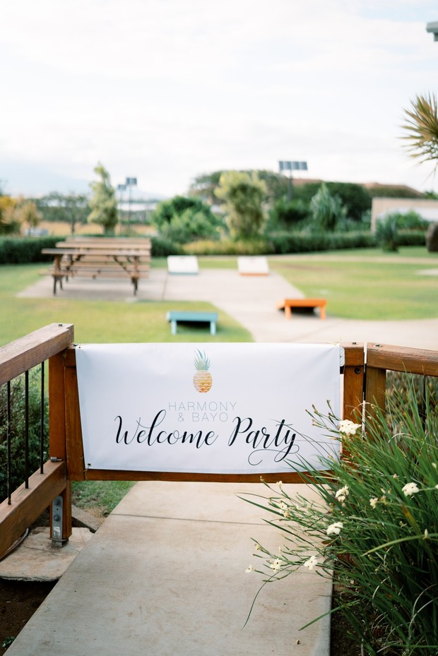 wedding welcome party sign with Wedding Chicks Free Printable
