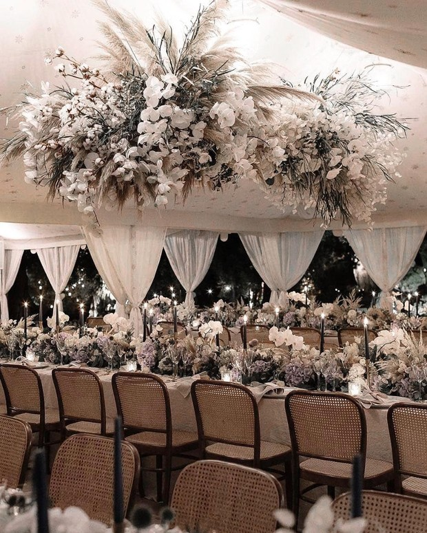 glam reception decor