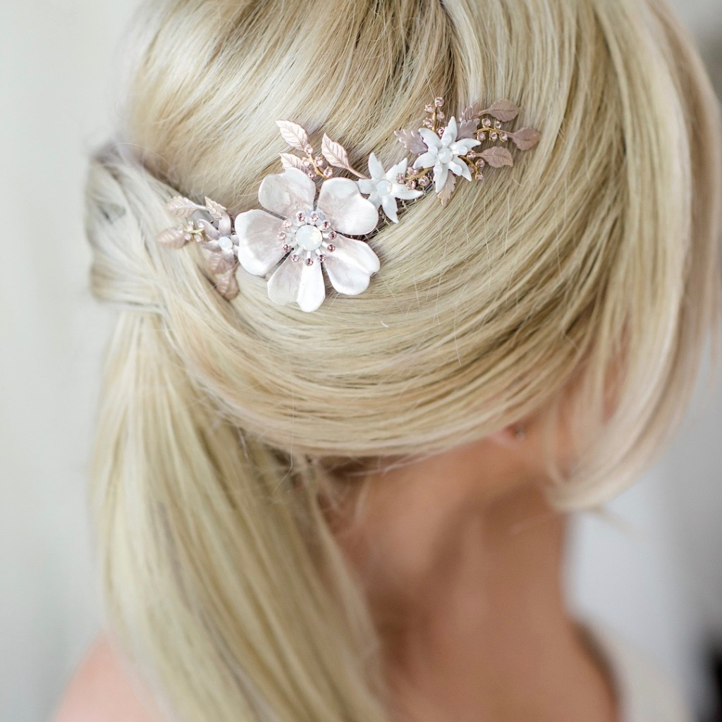Our new vintage floral collection from The House of Mac & Zoe. Handmade hair accessories & jewelry created in New Jersey.
