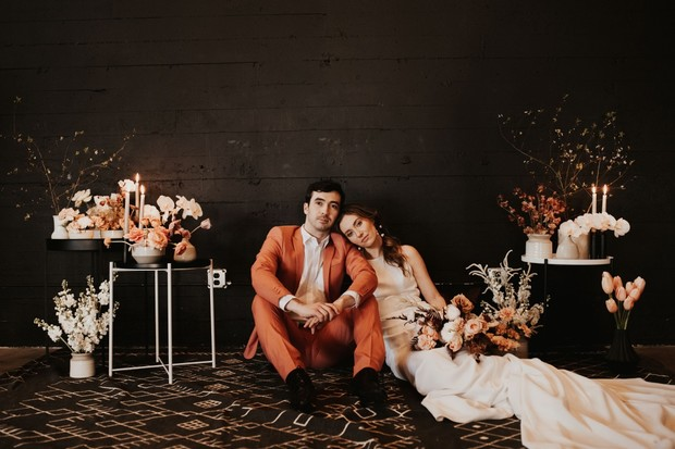 black and coral wedding ideas