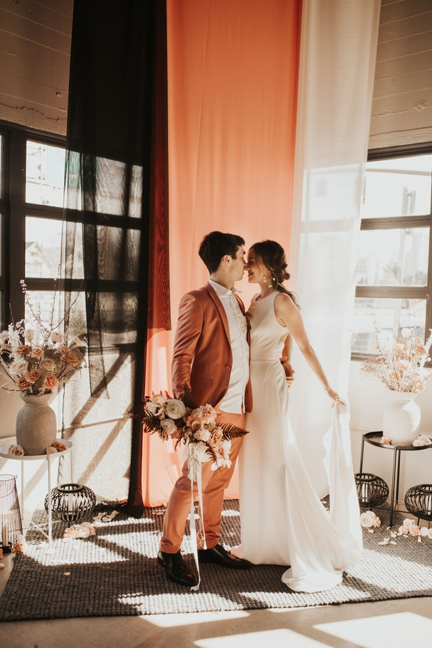 romantic coral wedding ideas
