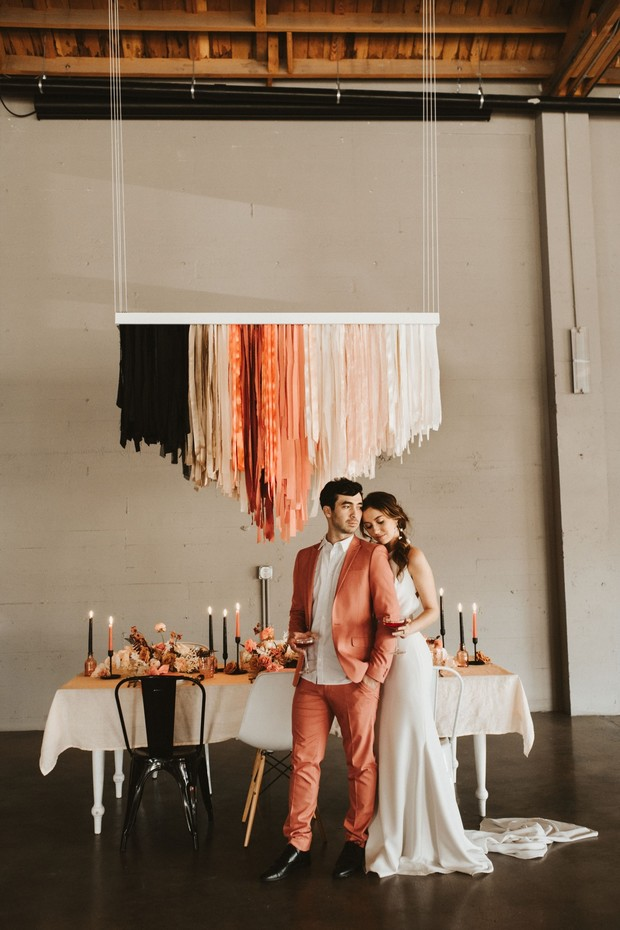coral and black wedding ideas