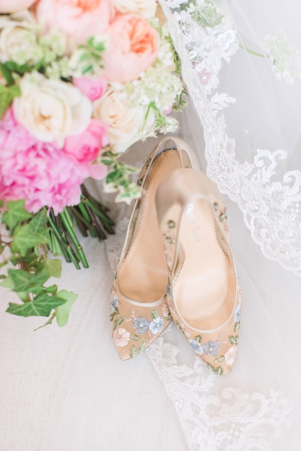 flower wedding shoes