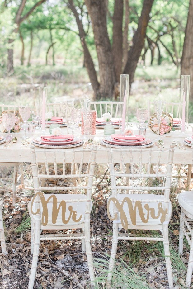 elegant and sweet pink wedding table