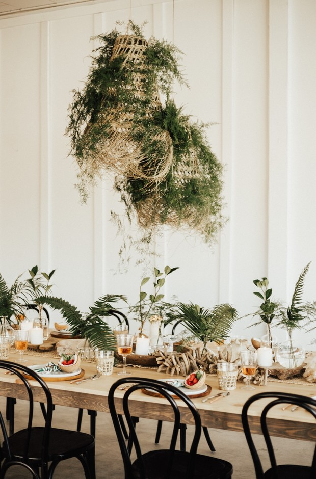 tropical inspired wedding table