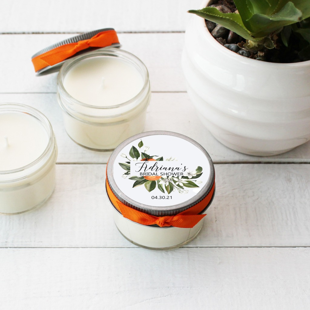Bridal Shower Favor Candles, the perfect way to thank your guests for showering you with love!