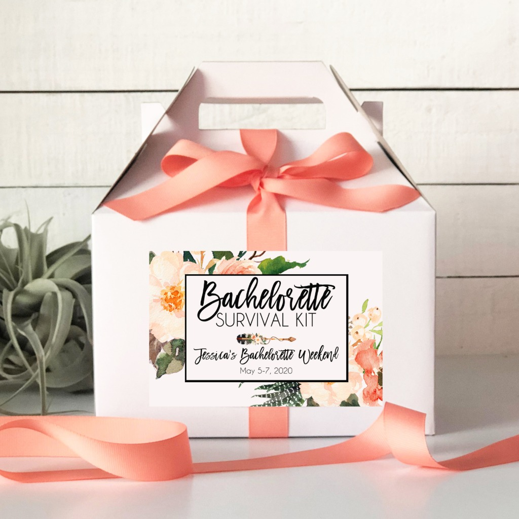 Our Bachelorette Survival Kit Boxes are ready to fill with the essentials to help your guests make the most of this epic party!