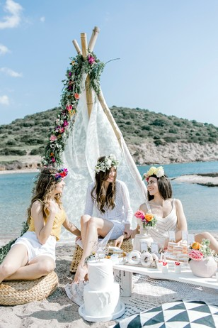 have a bachelorette beach party like this