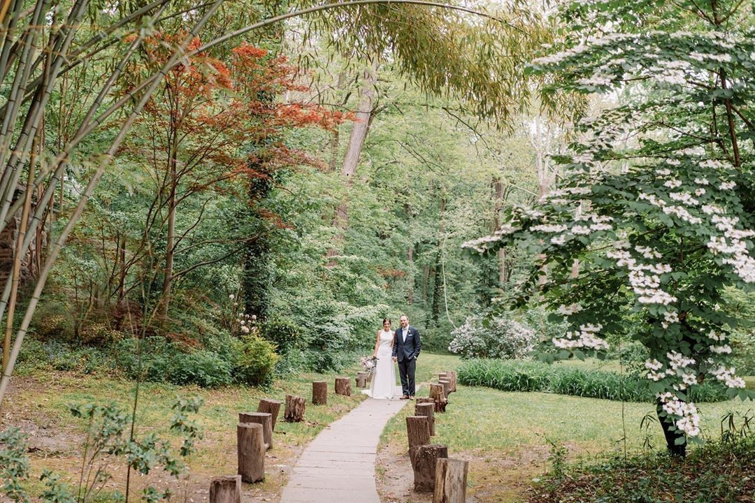 A little drizzle didn't stop us from walking around the beautiful grounds at The Old Mill last Friday. :) @maseman13 @brenbangs