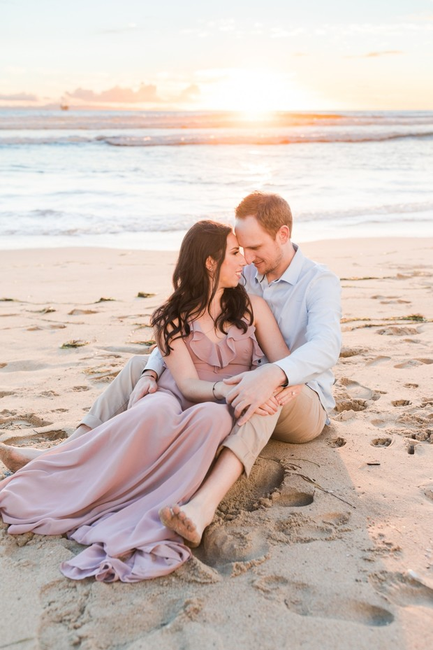 sunset engagement