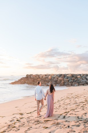 beach sunset engagement