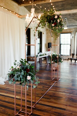 modern wedding floral backdrop
