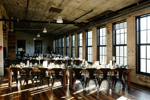 modern industrial wedding venue