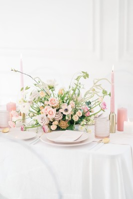 An Elegant Minimalist Wedding Inspiration in Pink and Gold