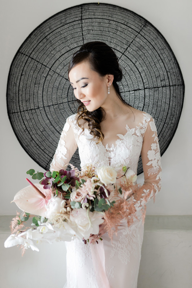 romantic and formal bridal style